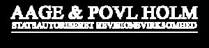 aage & povl holm logo hvid langt